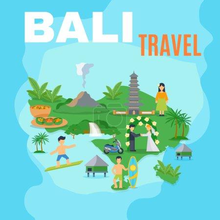 Background Map Bali Travel