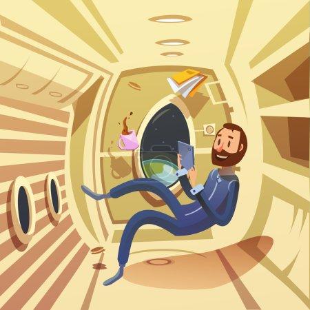 Spaceship Interior Illustration