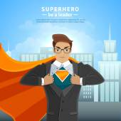 Super Hero Businessman Concept