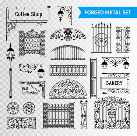Ornamented iron castings steel forged fences eleme...