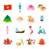 Vietnam Icons Set