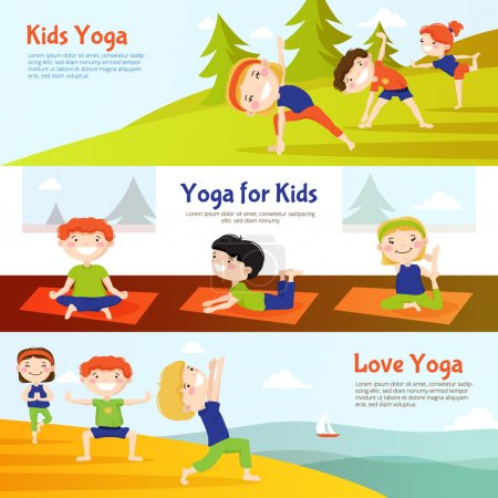 Kis Yoga Horizontal Banners Set