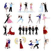 Taneční soubor ikony lidí