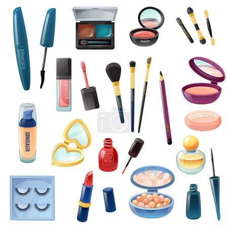 Ladies Cosmetics Make-up Realistic  Set