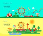 Zábavní Park 2 ploché horizontální bannery