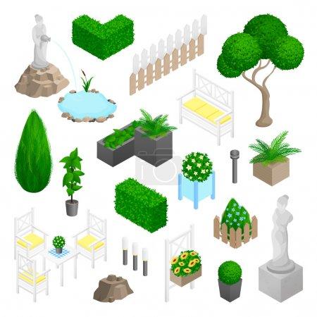 Garden Park Landscape Elements