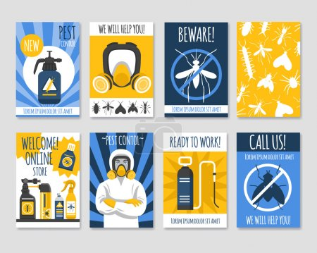 Pest Control Isolated Template Set