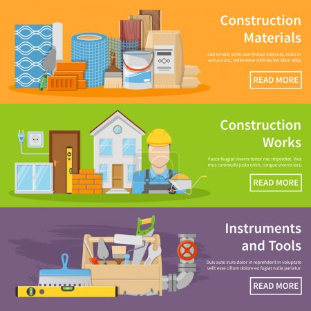 Construction Materials Banners