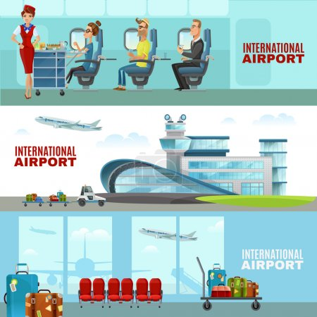 International Airport Horizontal Banners