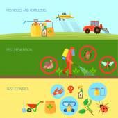 Pesticides Banners Set