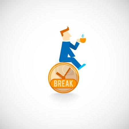 Coffe break flat icon