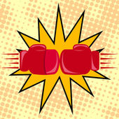 Boxer gloves hitting