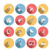 Satellite icons set