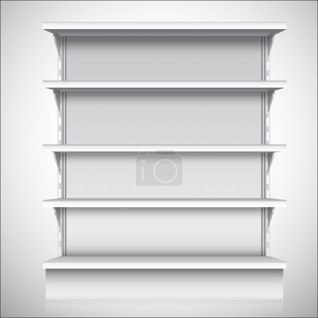 White supermarket shelves