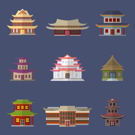 icônes de la maison chinoise