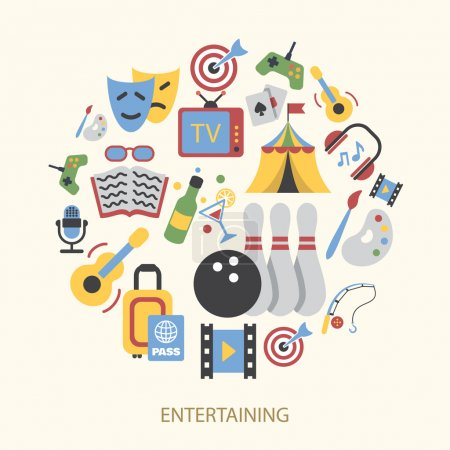 Entertainments icons set