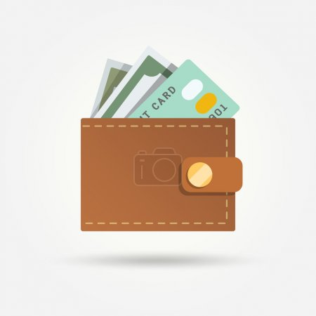 Wallet with money isolated