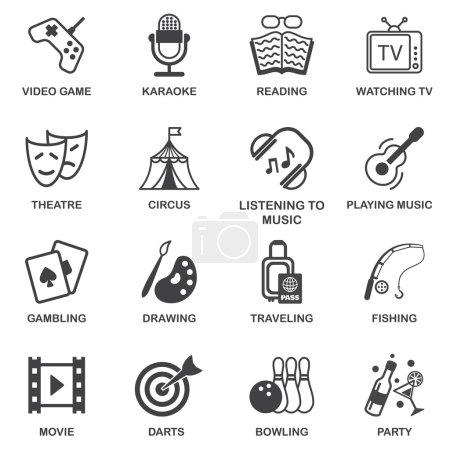 jeu d'icônes de distractions