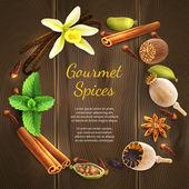 Spices on dark background