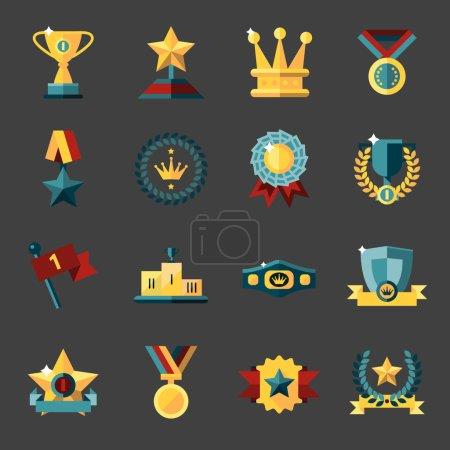 Award icons set