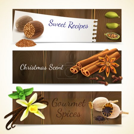 Spices banners horizontal