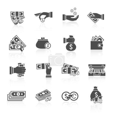 Money icon black