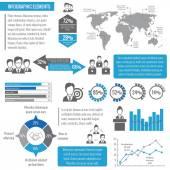 Teamwork business infographic