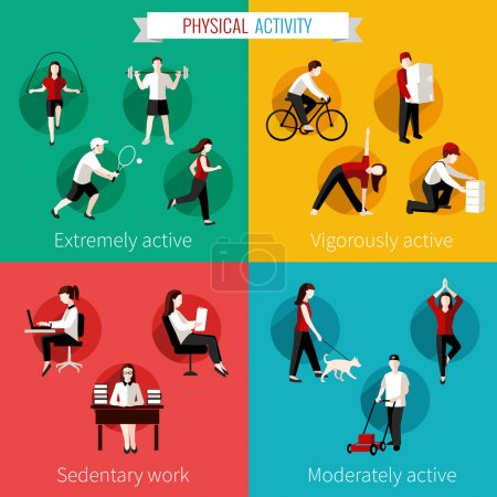 Physical activity flat set
