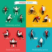 Physical activity flat set