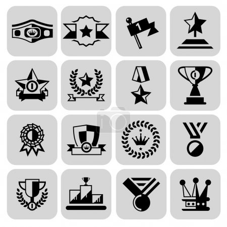 Award icons set black