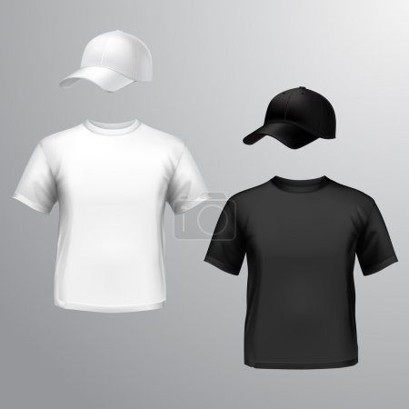 Mens t-shirt baseball cap