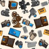 Photo video seamless pattern