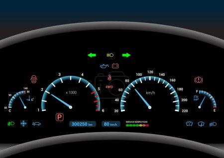 Car dashboard background