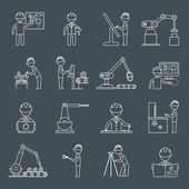 Engineering icons outline