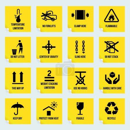 Handling and packing symbols