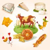 Natural cheese concept