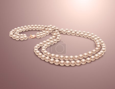 Pearl necklace realistic