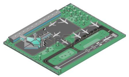 Aéroport Concept isométrique