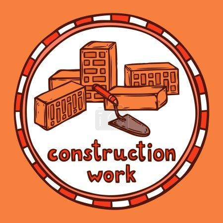 Architect building construction sketch