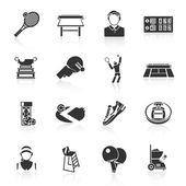 Tenisový ikony černé