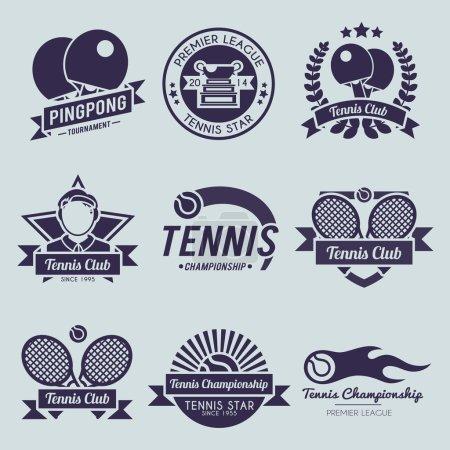 Tennis Label Black