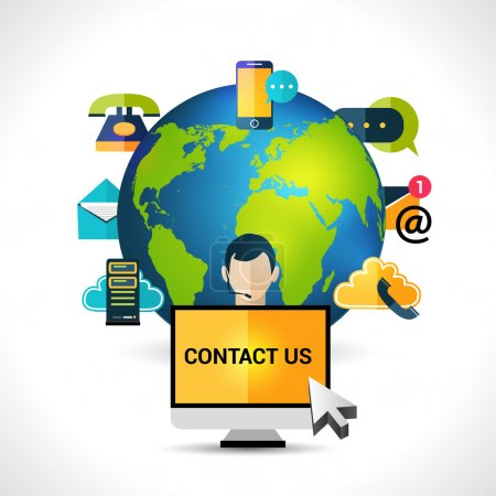 Contact us concept globe poster