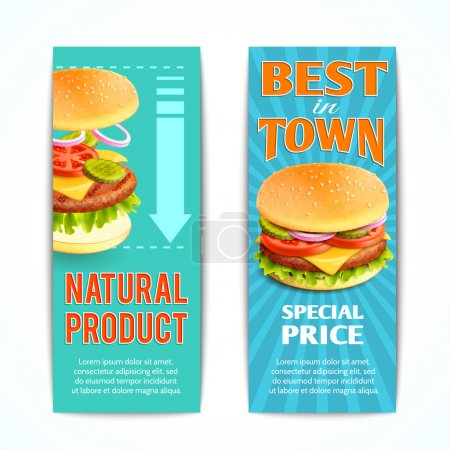 Fast Food Banners Set