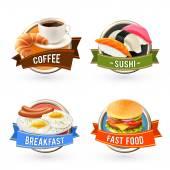 """Постер, картина, фотообои """"этикетки завтрака установлены"""""""