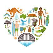 Australia Heart Shape