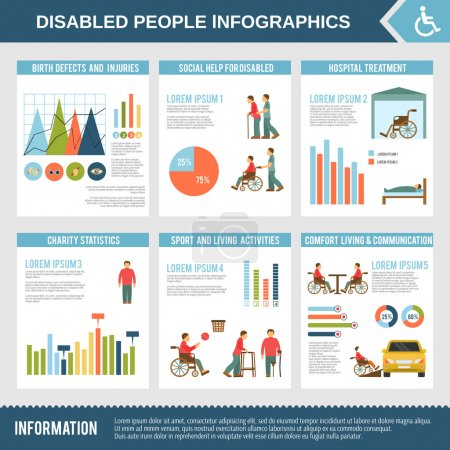 Disabled Infographics Set