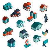 Immobilien Symbol Isometrie