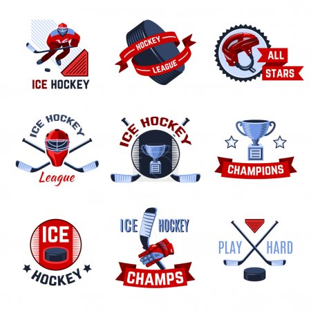 Hockey Emblems Set