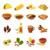 """Постер, картина, фотообои """"Мексиканские продовольствия набор"""""""