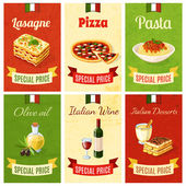 "Постер, картина, фотообои ""итальянская еда мини-плакат"""